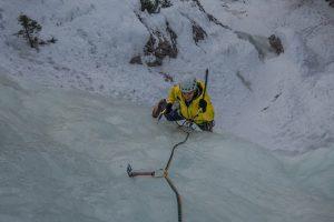 arrampicata su ghiaccio in dolomiti