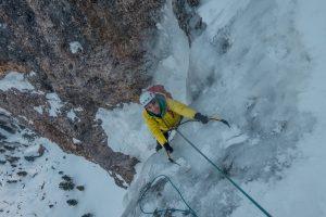 ice climbing dolomiti